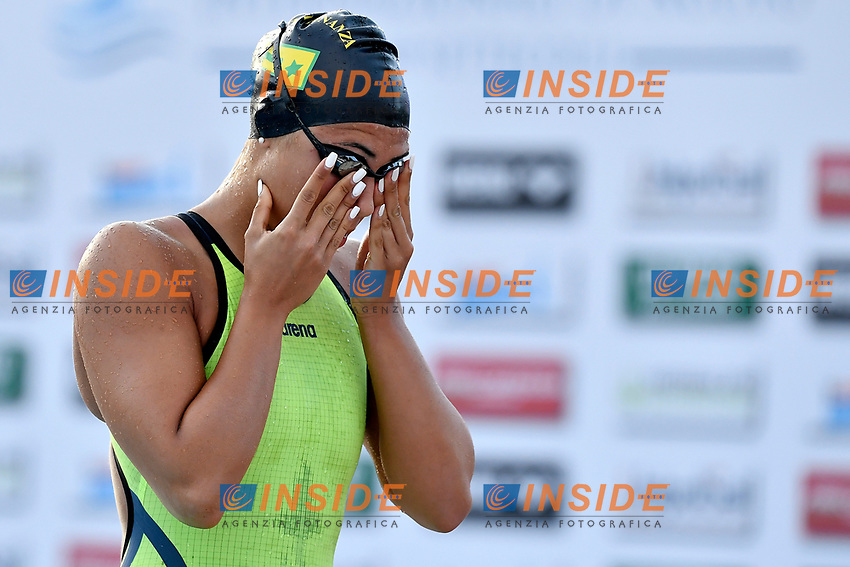 Tania Quaglieri of Italy prepares to compete in the women 50m butterfly during the 58th Sette Colli Trophy International Swimming Championships at Foro Italico in Rome, June 25th, 2021. Tania Quaglieri placed 8th in her heat. <br /> Photo Andrea Staccioli/Insidefoto/Deepbluemedia
