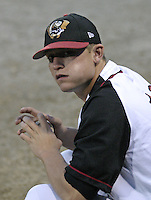 September 3, 2004:  Steve Lerud of the Williamsport Crosscutters during a game at Bowman Field in Williamsport, PA.  Williamsport is the Short Season Single-A NY-Penn League affiliate of the Pittsburg Pirates.  Photo By Mike Janes/Four Seam Images