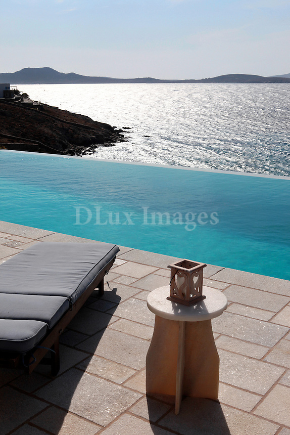 deck chair on swimming pool