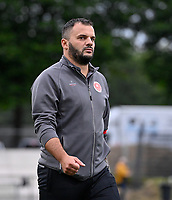 Head Coach Tiziano Rutilo of Woluwe pictured during a female soccer game between Sporting Charleroi and White Star Woluwe on the first matchday in the 2021 - 2022 season of Belgian Scooore Womens Super League , friday 20 August 2021 in Marcinelle , Belgium . PHOTO SPORTPIX | DAVID CATRY