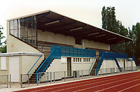 General view of Wimbledon Park Athletics Stadium (former home of Corinthian Casuals FC), Wimbledon, London, pictured on 8th May 1990