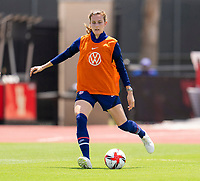 HOUSTON, TX - JUNE 8: Tierna Davidson #12 of the USWNT passes the ball during a training session at the University of Houston on June 8, 2021 in Houston, Texas.