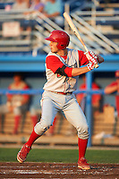 Williamsport Crosscutters third baseman Mitch Walding #25 during a NY-Penn League game against the Batavia Muckdogs at Dwyer Stadium on August 25, 2012 in Batavia, New York.  Batavia defeated Williamsport 6-5.  (Mike Janes/Four Seam Images)