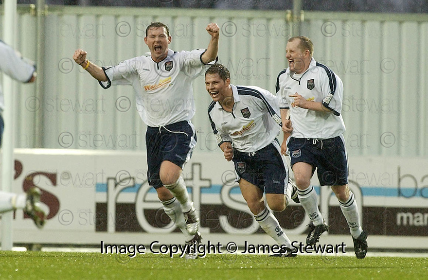 28/11/2004  Copyright Pic : James Stewart.File Name : jspa01_falkirk_v_ross_county.STEVEN MCGARRY CELEBRATES AFTER SCORING COUNTY'S FIRST.......Payments to :.James Stewart Photo Agency 19 Carronlea Drive, Falkirk. FK2 8DN      Vat Reg No. 607 6932 25.Office     : +44 (0)1324 570906     .Mobile   : +44 (0)7721 416997.Fax         : +44 (0)1324 570906.E-mail  :  jim@jspa.co.uk.If you require further information then contact Jim Stewart on any of the numbers above.........