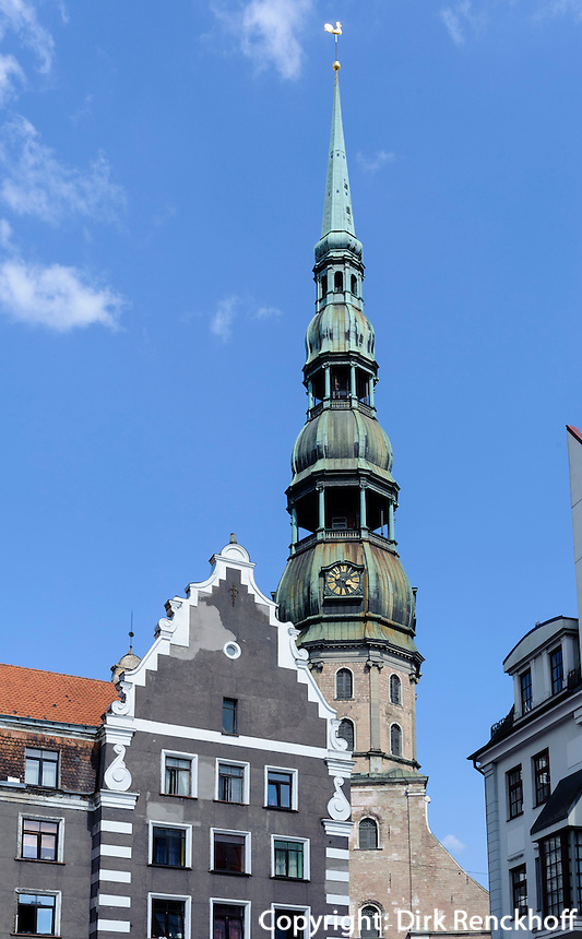 Sv. Petera baznica  (St.Peter) in Riga, Lettland, Europa, Unesco-Weltkulturerbe