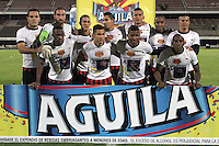 CÚCUTA -COLOMBIA, 19-04-2015.  Jugadores del Cucuta Deportivo posan para una foto previo al partido con Once Caldas por la fecha 16 de la Liga Aguila I 2015 disputado en el estadio General Santander de la ciudad de Cúcuta./ Players of Cucuta Deportivo pose to a photo prior a match against Once Caldas for the 16th date of the Aguila League I 2015 played at General Santander Stadium in Cucuta city. Photo: VizzorImage/Manuel Hernandez/Cont