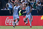 CD Leganes's Martin Braithwaite celebrates goal during La Liga match, Round 25 between CD Leganes and Valencia CF at Butarque Stadium in Leganes, Spain. February 24, 2019. (ALTERPHOTOS/A. Perez Meca)