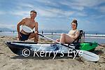 Enjoying the day on Ballyheigue beach on Sunday, l to r: Thomas Diggins and Kate Ellen Reidy (Ballyheigue).
