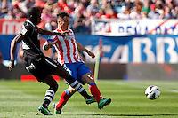 Atletico's Koke and Granada's Brahimi during La Liga BBVA match. April 14, 2013.(ALTERPHOTOS/Alconada)