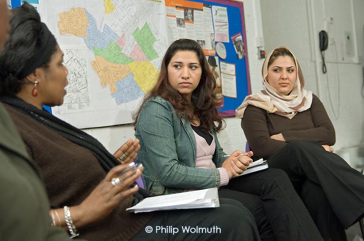 Afghan Women's Group meeting at the Portman Family Centre, Paddington, London.