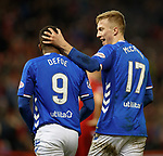 06.02.2019:Aberdeen v Rangers: Ross McCrorie and Jermain Defoe