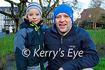 Hugh and Liam Byrne enjoying a stroll in the Tralee town park on Sunday.