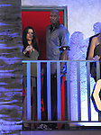 """Khloe Kardashian & Lamar Odom wait for Weezer  to perform live at The Axe Music """"One Night Only"""" Concert series,Weezer headlines & takes over The Dunes Inn Motel in Hollywood, California on September 21,2010                                                                               © 2010 DVS / RockinExposures"""