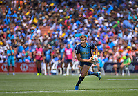 Argentina's Santiago Mare. Day two of the 2020 HSBC World Sevens Series Hamilton at FMG Stadium in Hamilton, New Zealand on Sunday, 26 January 2020. Photo: Dave Lintott / lintottphoto.co.nz