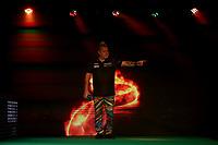 26th May 2021; Marshall Arena, Milton Keynes, Buckinghamshire, England; Professional Darts Corporation, Unibet Premier League Night 15 Milton Keynes; Peter Wright is presented to the arena