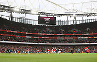 VAR rules in favour of Arsenal's first goal after it was originally ruled out for offside<br /> <br /> Photographer Rob Newell/CameraSport<br /> <br /> The Premier League - Arsenal v West Ham United - Saturday 7th March 2020 - The Emirates Stadium - London<br /> <br /> World Copyright © 2020 CameraSport. All rights reserved. 43 Linden Ave. Countesthorpe. Leicester. England. LE8 5PG - Tel: +44 (0) 116 277 4147 - admin@camerasport.com - www.camerasport.com