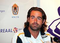 7-9-09, Alphen aan den Rijn, Persconferentie Daviscup team, Raemon Sluiter