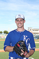 Josh Staumont (15) of the AZL Royals poses for a photo before a game against the AZL Mariners at Surprise Stadium on July 4, 2015 in Surprise, Arizona. Mariners defeated Royals, 7-4. (Larry Goren/Four Seam Images)