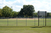 One of three ballfields is seen Thursday, Oct. 7, 2021, at Lake Fayetteville. The city's parks department wants to use American Rescue Plan money to renovate the fields at Lake Fayetteville, as well as to install sewer lines and restrooms at Underwood Park and to add activity features to Walker Park. Visit nwaonline.com/211008Daily/ for today's photo gallery.<br /> (NWA Democrat-Gazette/Andy Shupe)