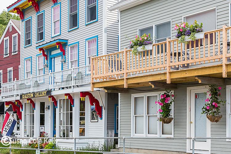 Village shop in Rockport, Maine, USA