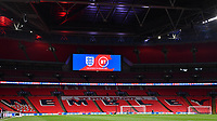 25th March 2021; Wembley Stadium, London, England;  General view inside the empty Wembley stadium  during the World Cup 2022 Qualification match between England and San Marino at Wembley Stadium in London, England.