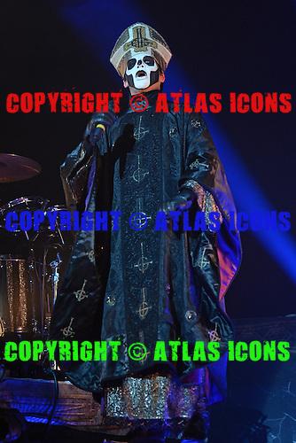 MIAMI BEACH, FL - NOVEMBER 03: Papa Emeritus III of Ghost performs at The Fillmore on November 3, 2016 in Miami Beach, Florida. Credit Larry Marano © 2016