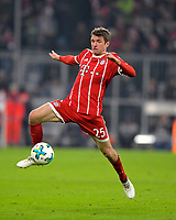 27.01.2018,  Football 1.Liga 2017/2018, 20. match day, FC Bayern Muenchen - TSG 1899 Hoffenheim, in Allianz-Arena Muenchen. Thomas Mueller (FC Bayern Muenchen) . *** Local Caption *** © pixathlon<br /> <br /> +++ NED + SUI out !!! +++<br /> Contact: +49-40-22 63 02 60 , info@pixathlon.de