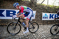 Niki Terpstra (NED/Total - Direct Energie) up the infamous Koppenberg<br /> <br /> 104th Ronde van Vlaanderen 2020 (1.UWT)<br /> 1 day race from Antwerpen to Oudenaarde (BEL/243km) <br /> <br /> ©kramon