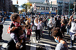 Brooklyn residents celebrate in the streets after former Vice President Joe Biden was declared the winner of the 2020 presidential election between U.S. President Donald Trump and Biden on November 7, 2020 in New York City.  Photograph by Michael Nagle