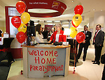 Ottawa, ON - March 28 2014- Ottawa CIBC staff at the CIBC South Keys Banking Centre getting ready to welcome the crowd! (Photo: Patrick Doyle/CIBC)