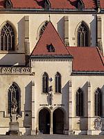 gotische Kirche St. Ägidius-bazilika sv.Egidia, Bardejov, Presovsky kraj, Slowakei, Europa, UNESCO-Weltkulturerbe<br /> gothic church St. Ägidius-bazilika sv.Egidia, Bardejov, Presovsky kraj, Slovakia, Europe, UNESCO-world heritage