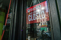 NEW YORK, NEW YORK - JUNE 18: A local restaurant is seen shuttered at Hells Kitchen area as city prepares for reopening on June 18, 2020 in New York City. New York City is preparing to enter phase 2 of reopening where restaurants and bars can offer outdoor dining this coming Monday. (Photo by Eduardo MunozAlvarez/VIEWpress)