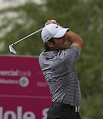Franesco Molinari plays to the par three 8th hole  during the opening round of the  2012 Commercial Bank Qatar Masters being played over the Championship Course at Doha Golf Club, Doha, Qatar from 2nd to 5th February 2012. Picture Stuart Adams www.golftourimages.com: 2nd February 2012
