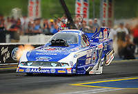 Jun. 19, 2011; Bristol, TN, USA: NHRA funny car driver Robert Hight set a new speed record of 316.45 mph during the Thunder Valley Nationals at Bristol Dragway. Mandatory Credit: Mark J. Rebilas-