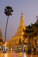 Shwedagon pagoda at sunrise, Yangon, Myanmar