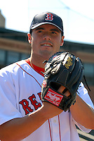 Lowell Spinners LHP CHRIS HERNANDEZ prior to a game  vs. the Staten Island Yankees at LaLacheur Park in Lowell, Massachusetts on August 28, 2010.Chris was drafted by the Boston Red Sox in the 7th round of the 2010 draft out of the University of Miami.    Photo By Ken Babbitt/Four Seam Images