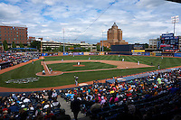 Akron RubberDucks general view during a game against the New Britain Rock Cats on May 21, 2015 at Canal Park in Akron, Ohio.  Akron defeated New Britain 4-2.  (Mike Janes/Four Seam Images)