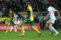 Thursday 24 October 2013  <br /> Pictured: Nathan Dyer ( with Ball ) Makes a run down the wing <br /> Re:UEFA Europa League, Swansea City FC vs Kuban Krasnodar,  at the Liberty Staduim Swansea