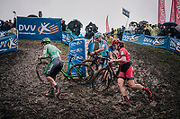slippery slope<br /> <br /> women's race<br /> Soudal Jaarmarktcross Niel 2018 (BEL)