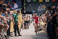 Daniel Navarro (ESP/Cofidis) coming back from the sign-on podium<br /> <br /> Stage 15: Millau > Carcassonne (181km)<br /> <br /> 105th Tour de France 2018<br /> ©kramon