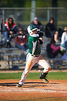 Farmingdale State Rams Anthony Gigante (4) at bat during the second game of a doubleheader against the FDU-Florham Devils on March 15, 2017 at Lake Myrtle Park in Auburndale, Florida.  FDU-Florham defeated Farmingdale 8-4.  (Mike Janes/Four Seam Images)
