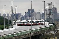 16.03.2019 - Prefeitura faz teste no viaduto da Marginal Pinheiros em SP