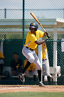 Pittsburgh Pirates Oneil Cruz (7) at bat during an Instructional League intrasquad black and gold game on September 28, 2017 at Pirate City in Bradenton, Florida.  (Mike Janes/Four Seam Images)