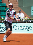 Blaz Kavcic (SLO) loses at Roland Garros in Paris, France on May 30, 2012