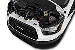 Car stock 2019 Ford Transit Van 250 LR 4 Door Cargo Van engine high angle detail view