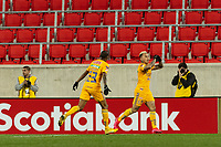 HARRISON, NJ - MARCH 11: Eduardo Vargas #9 of Tigres UANL celebrates scoring during a game between Tigres UANL and NYCFC at Red Bull Arena on March 11, 2020 in Harrison, New Jersey.