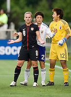 Amy Rodriguez, Yukari King, Ayumi Kaihori. The USWNT defeated Japan, 2-0,  at WakeMed Soccer Park in Cary, NC.