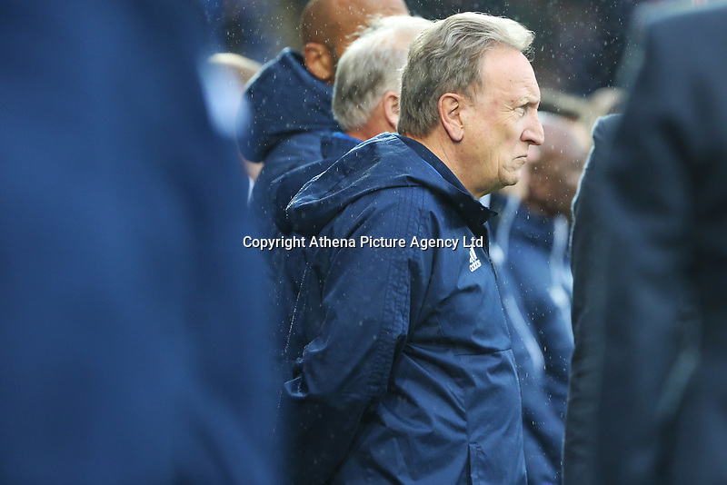 Cardiff City manager Neil Warnock prior to kick off of the Sky Bet Championship match between Cardiff City and Brentford at the Cardiff City Stadium, Wales, UK. Saturday 18 November 2017