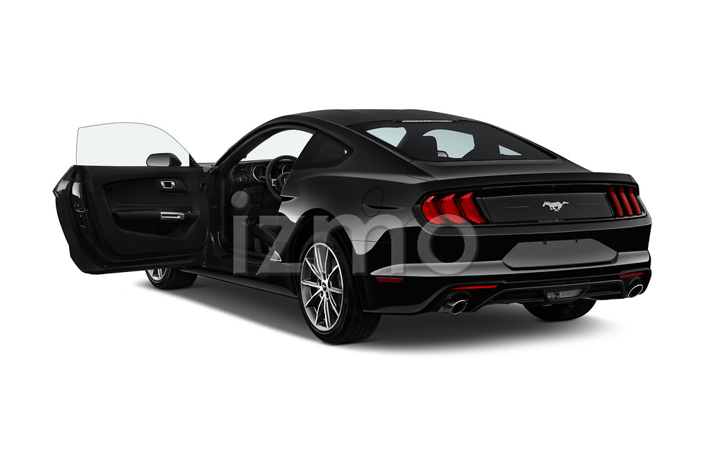 Car images close up view of a 2018 Ford Mustang EcoBoost 2 Door Coupe doors