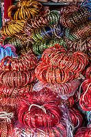 Nepal, Patan.  Plastic Bracelets for Sale.